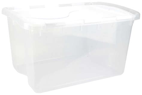 sterilite  single  quart clear base hinged lid