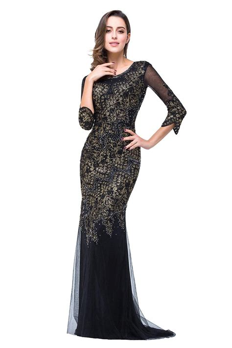 by color cheap prom dresses 2016 mother of bride gown robe de soiree cheap three quarter sleeve long evening