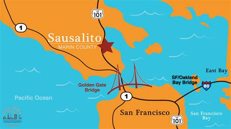 sausalito map sausalito bay area drop in
