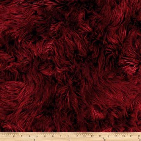 maroon shag faux fur luxury shag maroon from fabricdotcom this
