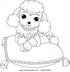 coloring pages poodle standard poodle coloring pages
