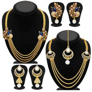 Buy sukkhi fine gold plated set of 2 necklace set combo for women