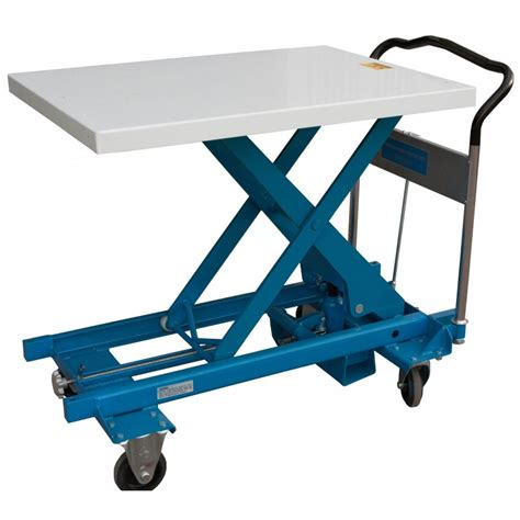 hydraulic lift table hydraulic scissors lift table 27 75 inch wide x 36 inch