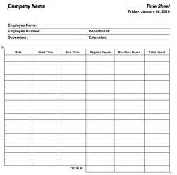Time Recording Template by 6 Free Timesheet Templates For Tracking Employee Hours