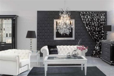Decorating Ideas In Black And White Black And White Decor Play Contrast Indoor Lighting