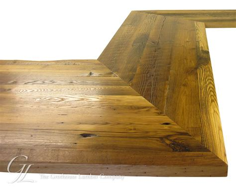 reclaimed chestnut wood counter  linville north carolina