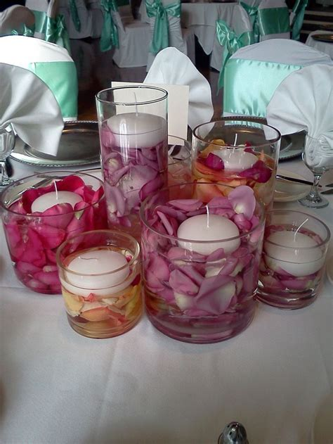 rose petal centerpieces for weddings   Google Search