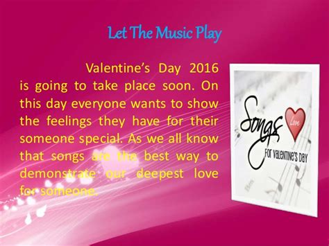 valentines day songs valentines day songs the way to express your