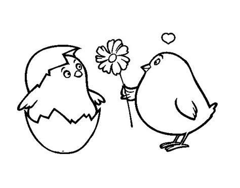 imagenes de animales enamorados para colorear un pollito imagui
