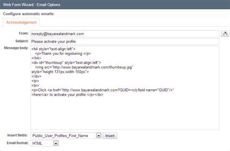 format email valid validate user email address caspio online help