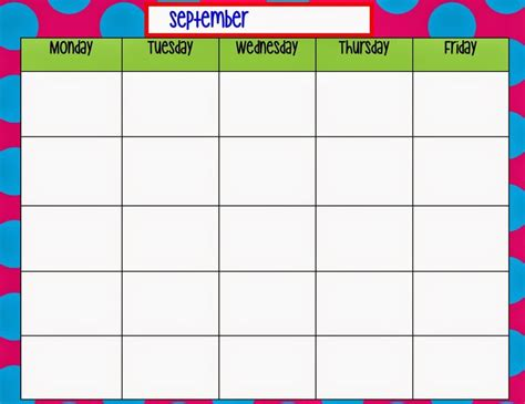 monday to friday calendar template 1000 images about preschool on paper plates