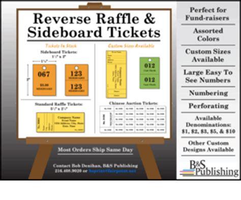 Sideboard Tickets Sideboardtickets Com Reverse Raffle Amp Sideboard Tickets