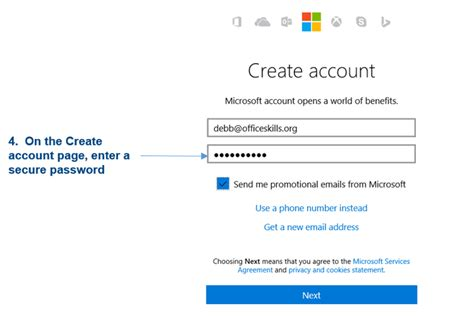 create account get ready to work in the cloud with onedrive and office