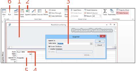 cara membuat query menggunakan wizard cara reset autonumber menggunakan query append di access 2013