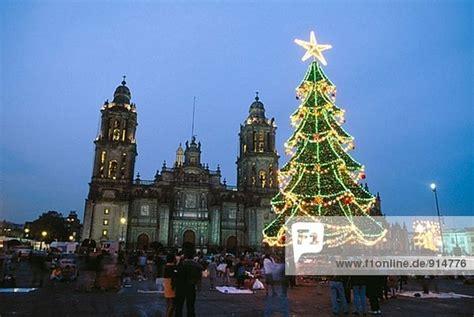 mexiko weihnachten plaza de la constituci 243 n der z 243 calo die kathedrale in