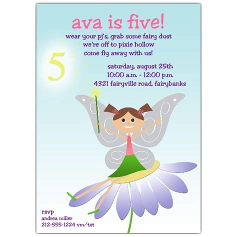 5th Birthday Invitation Card Template by 5th Birthday Invitations Paperstyle