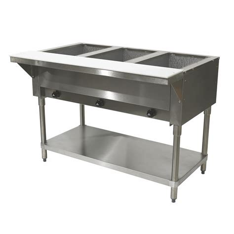 advance tabco hf 3g lp 3 well dry food warmer table lp