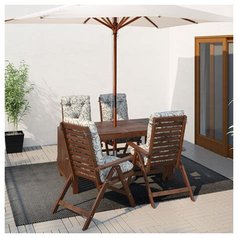 Outdoor Drop Leaf Table 196 Pplar 214 Drop Leaf Table Outdoor Brown Stained 140 200 260x78 Cm Ikea