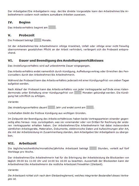 Muster Lebenslauf Kader Schweiz Arbeitsvertrag Pikettdienst Muster Zum