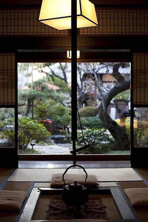 mix modern japanese courtyard  nature