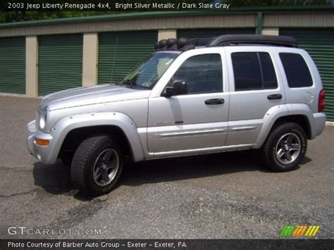 silver jeep renegade bright silver metallic 2003 jeep liberty renegade 4x4