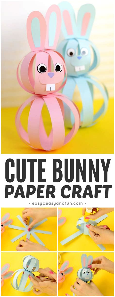 simple and craft with paper easy paper bunny craft easter idea for easy peasy