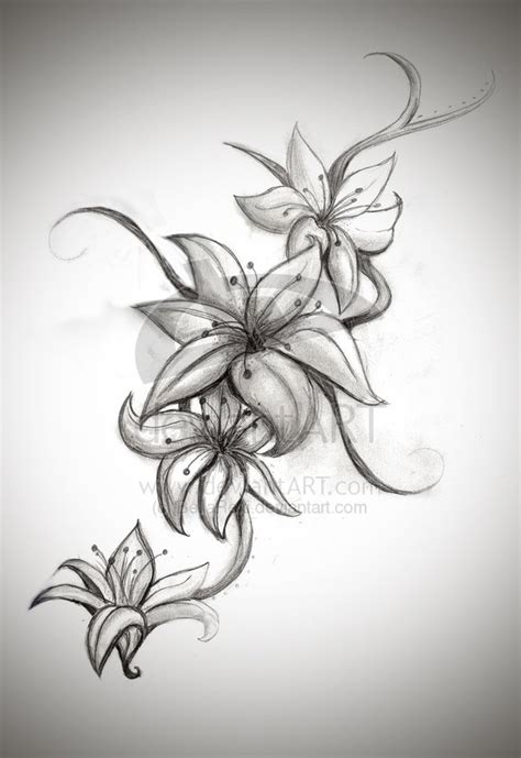 orchid tattoo black and grey new grey ink orchid tattoos on side of rib