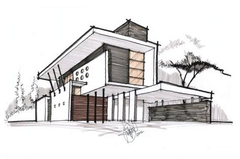 Top Architecture House Sketch And Found On Fbcdn Sphotos G A