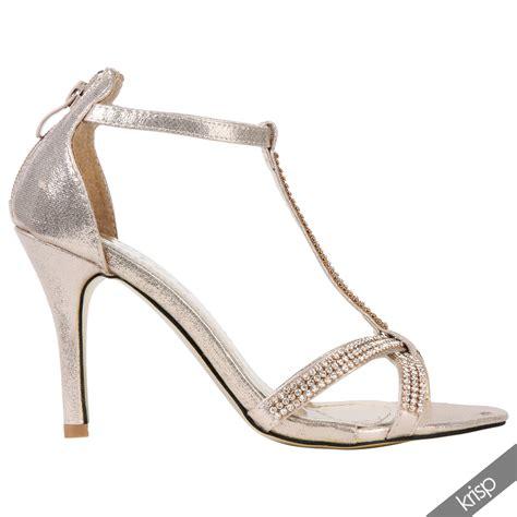 weiße brautschuhe mit riemchen damen gl 228 nzende riemchen sandalette strass gold