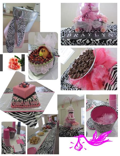 Zebra And Pink Baby Shower by Pink And Zebra Baby Shower Crafts By Kg