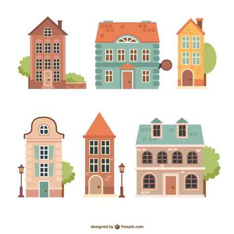 home design vector free download vintage houses pack vector free download