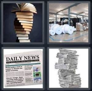 7 Letter Word 4 Pics 1 Word Daily Challenge 4 Pics 1 Word Answer For Books Paper Daily Newspaper