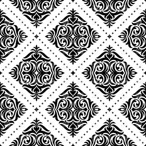 black pattern free vector black and white damask pattern royalty free vector clip