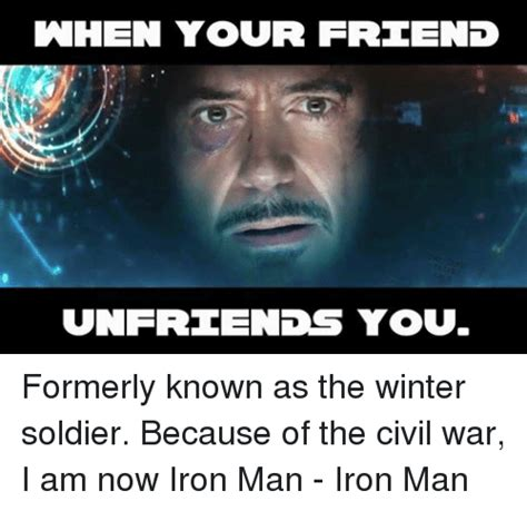 Winter Soldier Meme - when your friend unfre lends you formerly known as the