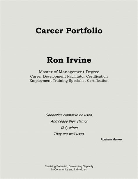 career portfolio template best photos of professional portfolio sles
