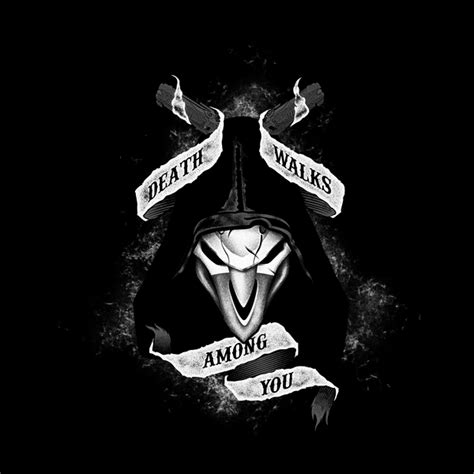 Hoodie Zipper Overwatch Reaper Walks Among You walks among you neatoshop