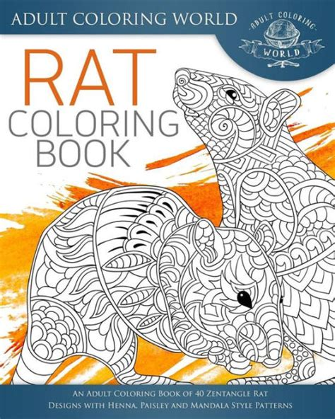 coloring books for adults barnes and noble rat coloring book an coloring book of 40 zentangle