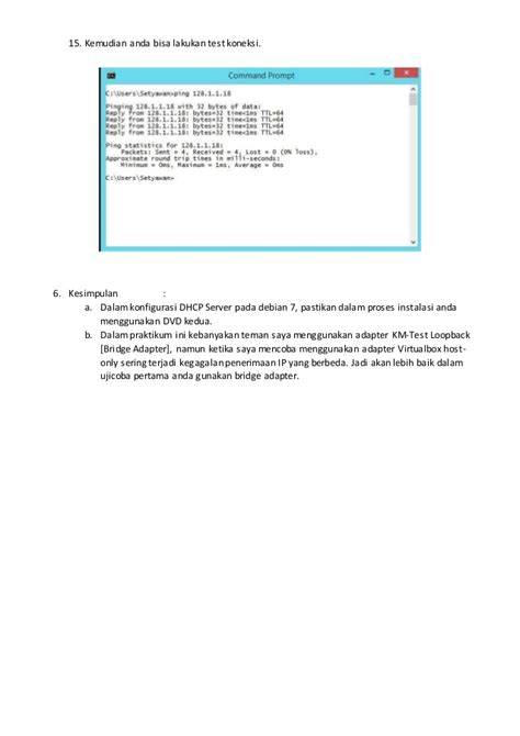 cara konfigurasi dns server pada debian 7 konfigurasi dhcp server pada debian 7