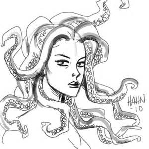 medusa coloring page mermaid medusa 171 david hahn