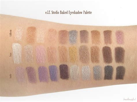 Eyeshadow E e l f studio baked eyeshadow palette review makeupfu