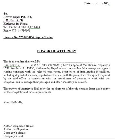 Release Letter Lawyer Printable Sle Power Of Attorney Letter Form Real Estate Forms Word Power Of