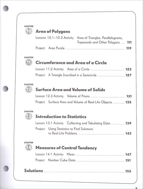 Houghton Mifflin Math Worksheets by Houghton Mifflin Math Grade 6 Table Of Contents Math In