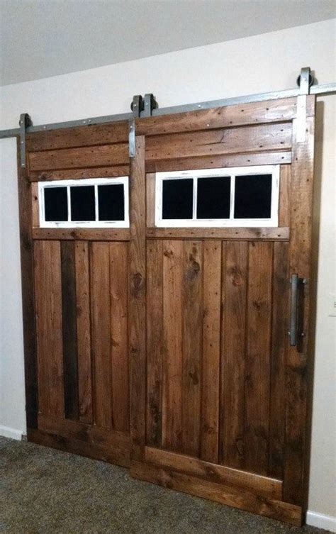 Bypass Barn Door Track Bypass Sliding Barn Door Hardware Kit With Track System For 2 Doors One Track Doors Not Included