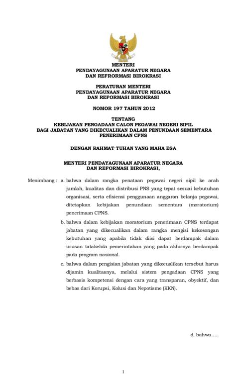 20160602105914 Peraturan Menteri Ke   peraturan menteri pan rb no 197 tahun 2012