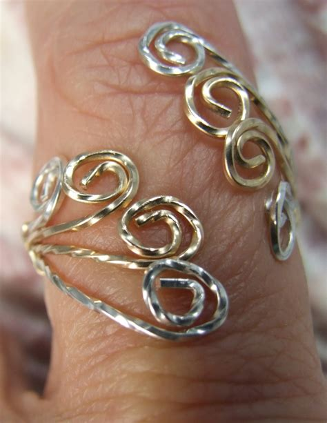 Handmade Wire Wrapped Rings - adjustable wire wrapped ring le creations handmade rings