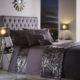 Dazzle   Sequin   Charcoal   Duvet Cover     Tonys Textiles