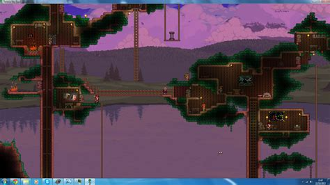 terraria tree house terraria treehouse by qazaman on deviantart