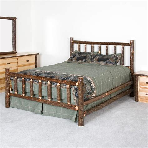 Log Bed Sets Caldwell Brook Hickory Log Bed Set Cabin Place