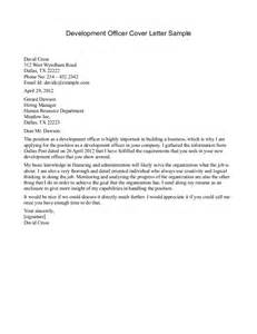Development Cover Letter by Best Photos Of Development Officer Cover Letter Exles