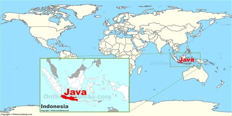 on the world map java on the world map